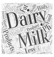 Dairy products and the pH miracle diet Word Cloud vector image vector image