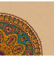 Decorative Vintage Design Element with lacy frame vector image