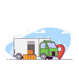 delivery city truck vector image vector image