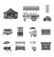 design of market and exterior symbol set vector image