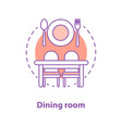 dining room concept icon vector image vector image