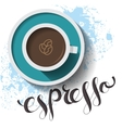 Espresso cup card vector image vector image