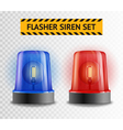Flasher Siren Transparent Set vector image