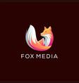fox animal gradient logo design vector image vector image