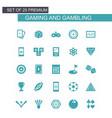 gaming icons set vector image
