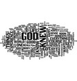 god is my boss text background word cloud concept vector image vector image