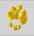 gold helium balloon set for party decoration vector image