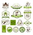 Green ceylon and black tea labels vector image vector image