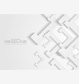 grey and white tech paper shapes abstract vector image vector image