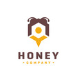 honey wasp logo vector image