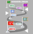 infographic timeline template abstract vector image vector image