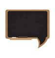 isolated chalkboard with a bubble chat shape vector image