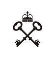 key logo design vector image