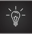 light bulb idea thin line on black background vector image
