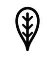 line botany leaf to ecology care symbol vector image vector image
