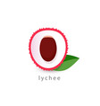 lychee simple icon vegan logo template vector image