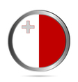 Malta flag button vector image vector image