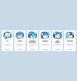 mobile app onboarding screens online payment vector image