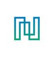 modern letter n logo design vector image vector image