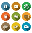 Money icon collection vector image vector image