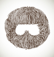 Neat beard vector image vector image