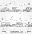 Neighborhood with homes on white vector image vector image