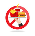 no food allowed symbol vector image vector image