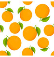 oranges pattern colorful texture with oranges on vector image vector image
