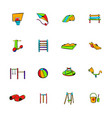 park playground icons set cartoon vector image vector image