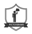 pictograms human silhouettes vector image vector image