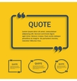 Quote line text box with commas set vector image
