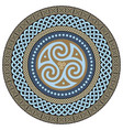 round celtic design ancient celtic magic mandala vector image