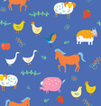 Seamless animals pattern vector image vector image