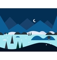 Seamless Cartoon Nature Landscape at Night vector image vector image
