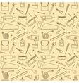 Seamless Workshop Tools Pattern vector image