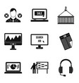 secret document icons set simple style vector image vector image