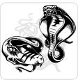 Set - Aggressive Cobra vector image vector image