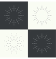 set vintage hipster banners insignias radial vector image vector image