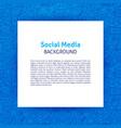 social media paper template vector image vector image