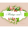 Spring vintage elegant card with flowers vector image vector image