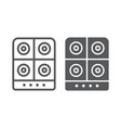 stove line and glyph icon kitchen and cooker vector image vector image