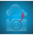 Symbols have the camera with the Cloud vector image vector image