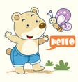 teddy bear n butterfly vector image vector image