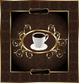 vintage label for wrapping coffee floral texture vector image vector image