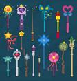 wand magic stick miracle fantasy magician vector image vector image