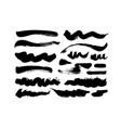 wavy and straight brush strokes collection vector image vector image