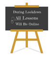 welcome back to school message blackboard on a vector image