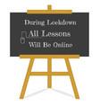 welcome back to school message blackboard vector image vector image