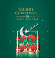 year festive paper cut city frame vector image vector image