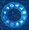 zodiac signs or horoscope symbols vector image